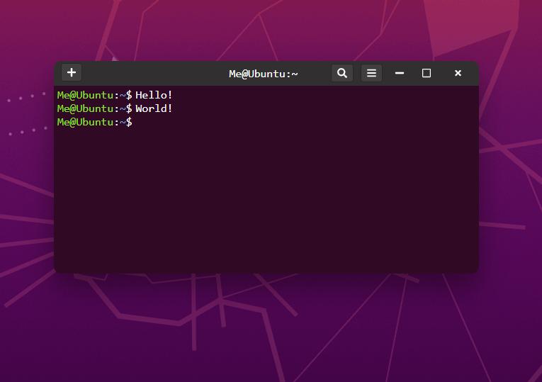 Completed Ubuntu Terminal